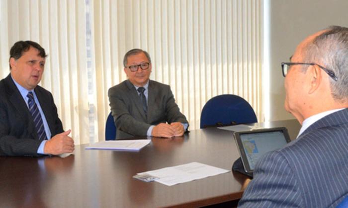 Visita da continuidade às tratativas iniciadas pela comitiva liderada pelo governador Marcelo Miranda no Japão, em setembro