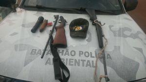 Armas de fogo apreendidas pela PM em Caseara_300.jpg