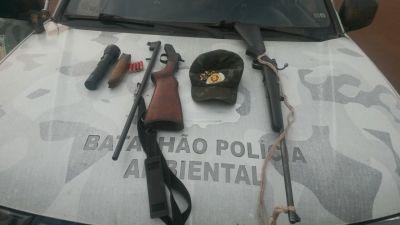 Armas de fogo apreendidas pela PM em Caseara_400.jpg