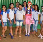 Pintura facial em crianças de Porto Nacional