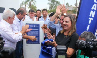 Marcelo Miranda, com a vice-governadora Claudia Lelis, inaugurou na manhã desta quarta-feira, 11, as obras de melhorias da infraestrutura do Parque Agroindustrial