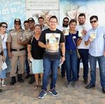 Parceira nas ações, a Polícia Militar do Estado do Tocantins levou diversos integrantes para a caminhada