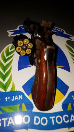Arma foi apreendida com suspeito em Araguaína