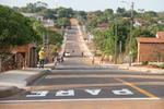 Rua do setor Maracanã com a sinalização das ruas pronta
