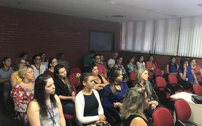 Palestra nutricionista Tatiana Evangelista - I Semana da Saúde da Mulher