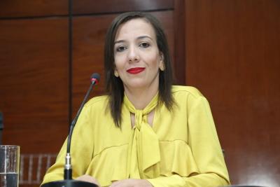 Advogada do Procon-TOe mediadora da mesa durante painel e conselheira da seccional/TO, Elaine Ayres.JPG
