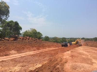 Início da pavimentação da rodovia que liga Paraíso a Chapada de Areia em execução após a ordem de serviço