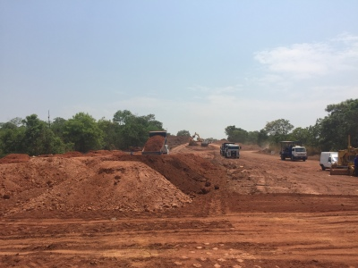 Início da pavimentação da rodovia que liga Paraíso a Chapada de Areia em execução após a ordem de serviço autorizada pelo Governo