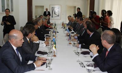 PGE Sergio do Vale acompanha reunião dos chefes de Executivo de 15 unidades da Federação na Residência Oficial de Águas Claras, em Brasília(DF)