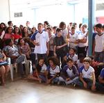 As apresentações aconteceram no pátio da escola