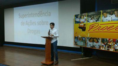 Superintendente de Ações sobre Drogas, José Américo Rosa Junior, falou sobre as ações do Governo do Estado de prevenção.