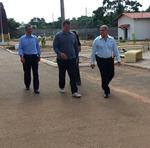 Acompanhado do subsecretário Felizardo Ramos, secretário visitou o Centro de Atendimento Socioeducativo (Case)