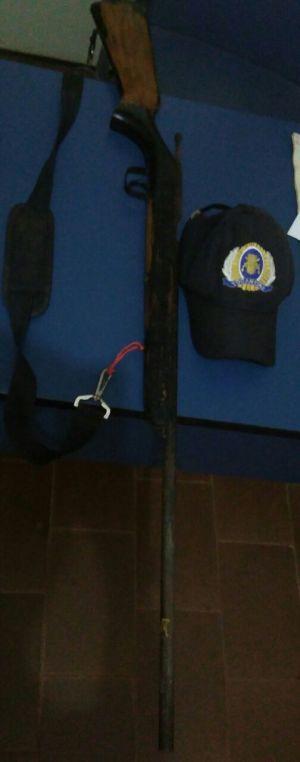 Arma apreendida pela PM em Colinas