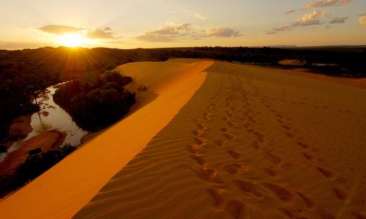 Nas dunas, o número aumentou de 6.464 turistas em 2012 para 14.495 em 2017