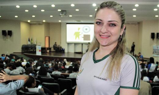 Professora Lucialine fala sobre o projeto na escola militar de Araguaína
