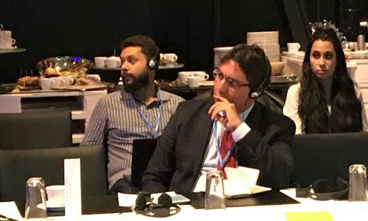 O subsecretário da Semarh, Fabio Lelis, representa o Governo do Tocantins durante o painel do GCF