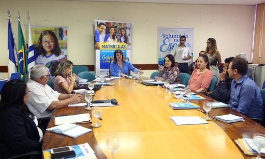 Encontro foi realizado na sala de reuniões da Seduc e contou com a presença dos 13 diretores regionais de Educação