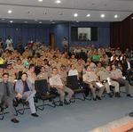 Os comandantes de unidades da Polícia Militar fizeram cada um, uma breve explanação sobre o desenvolvimento do programa na Capital e região do entorno