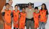 Alunos da escolinha comunitária de futebol do 6º Batalhão participam do evento