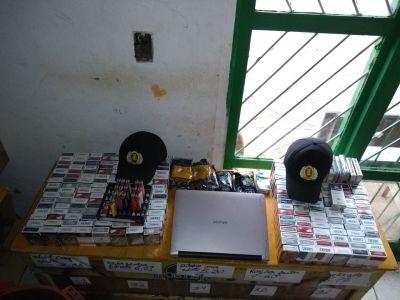 Materiais recuperados pela PM durante diligência no setor Santa Bárbara_400.jpg