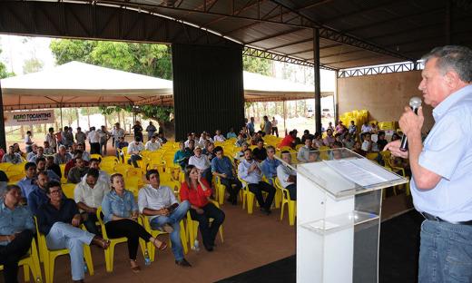 O secretário Clemente Barros frisou o potencial econômico do agronegócio no Tocantins, comparado o crescimento nos últimos dez anos