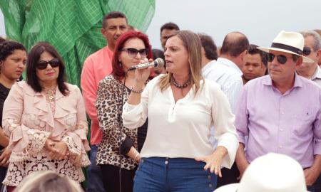 Governadora em exercício, Claudia Lelis, participou na manhã desta terça-feira, 14, da solenidade de inauguração da Via Lago, em Araguaína
