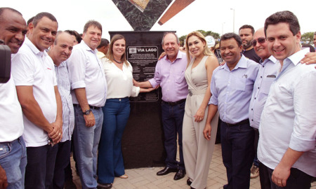 Autoridades inauguram Via Lago, em Araguaína