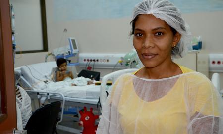 Ana Meire Pereira Luz elogiou o trabalho realizado pelos dentistas do HGP