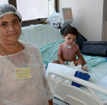 Iranete Barroso da Silva mora em Araguaína e estava acompanhando o seu neto internado na UTI Pediátrica