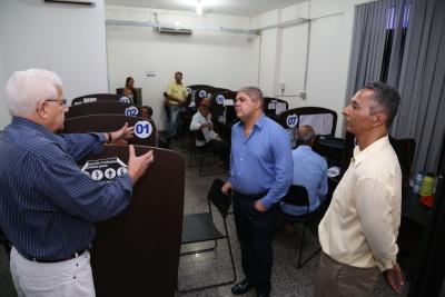 Secretário Glauber, subsecretário Felizardo e superintendente Nelito Cavalcante.