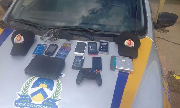 PM recupera objetos roubados em Taquaralto