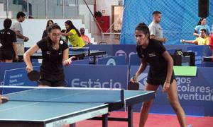 No tênis de mesa, Amanda e Ana Taynara venceram a 1ª rodada de equipes, mas acabaram derrotadas na 2ª