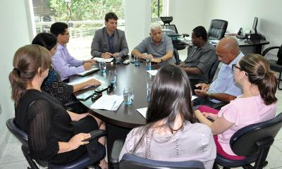 Representantes dos órgãos se reuniram na manhã desta quarta-feira, 22, para discutirem as medidas a serem tomadas a respeito do alto valor das tarifas de abastecimento - Núbio Brito/Governo do Tocantins