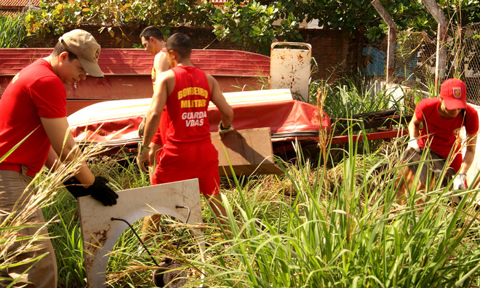 Ação faz parte do projeto de formação de brigadas que teve início esta semana e capacitou bombeiros, técnicos da Sesau e Defesa Civil Estadual