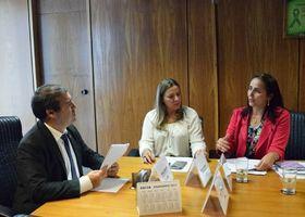 Ministro Ronaldo, Deputado Dulce Miranda e secretária Patrícia durante audiência em Brasília