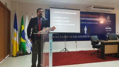 Palestrante Sérgio Harfouche, promotor do Ministério Público do Mato Grosso do Sul.