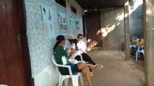 Durante o encontro ocorreu o Bate papo ambiental conhecendo a APA Serra do Lajeado