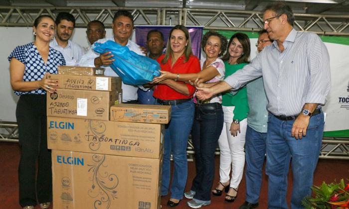 O Governador Marcelo Miranda participou da entrega dos equipamentos e ressaltou a importância das parcerias