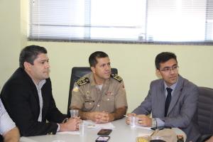 Chefe do estado-maior da PM durante divulgação do balanço da Operação Paz Social em Palmas.JPG