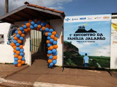 O Encontro Família Jalapão está sendo realizado no município de Ponte Alta do Tocantins