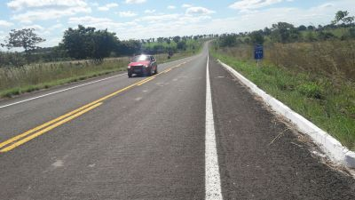 Trecho da TO-403 que será inaugurado novo asfalto, no Bico do Papagaio
