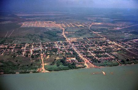 Vista aérea de Miracema em 1989
