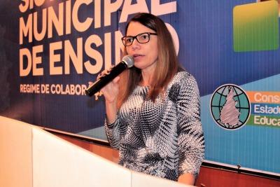 Jucylene Borba falou do compromisso da Seduc com os municípios tocantinenses