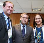 Josbertine Clementino (CE), com o ministro e a presidente Patrícia do Amaral