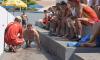 O teste é dividido em cinco modalidades: natação (100 m), corrida (2,4 km), flexão de braço, flexão abdominal e barras fixas