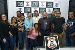 Equipe da 5ª Delegacia de Polícia Civil recebe visita do padre Aderso