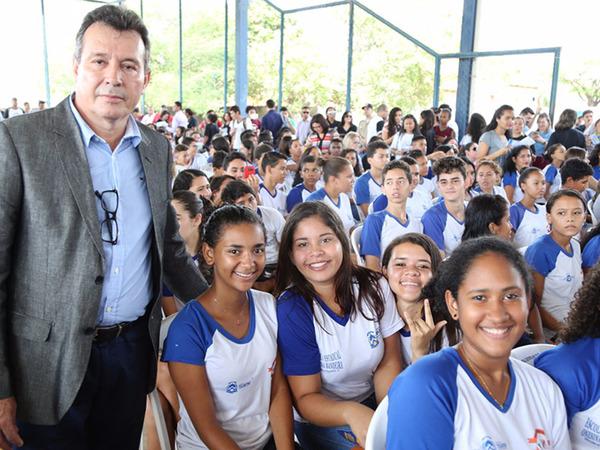 Estudantes participam de evento em Miracema, que atuou como Capital por um dia