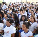 Público atento às informações na comemoração de Miracema sendo a Capital por um dia