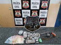 Drogas, arma de fogo e dinheiro são apreendidos pela Polícia Civil em Gurupi