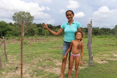 A dona de casa Zoé Alves conta que água em casa trouxe mais conforto